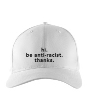 be anti-racist Embroidered Hat front