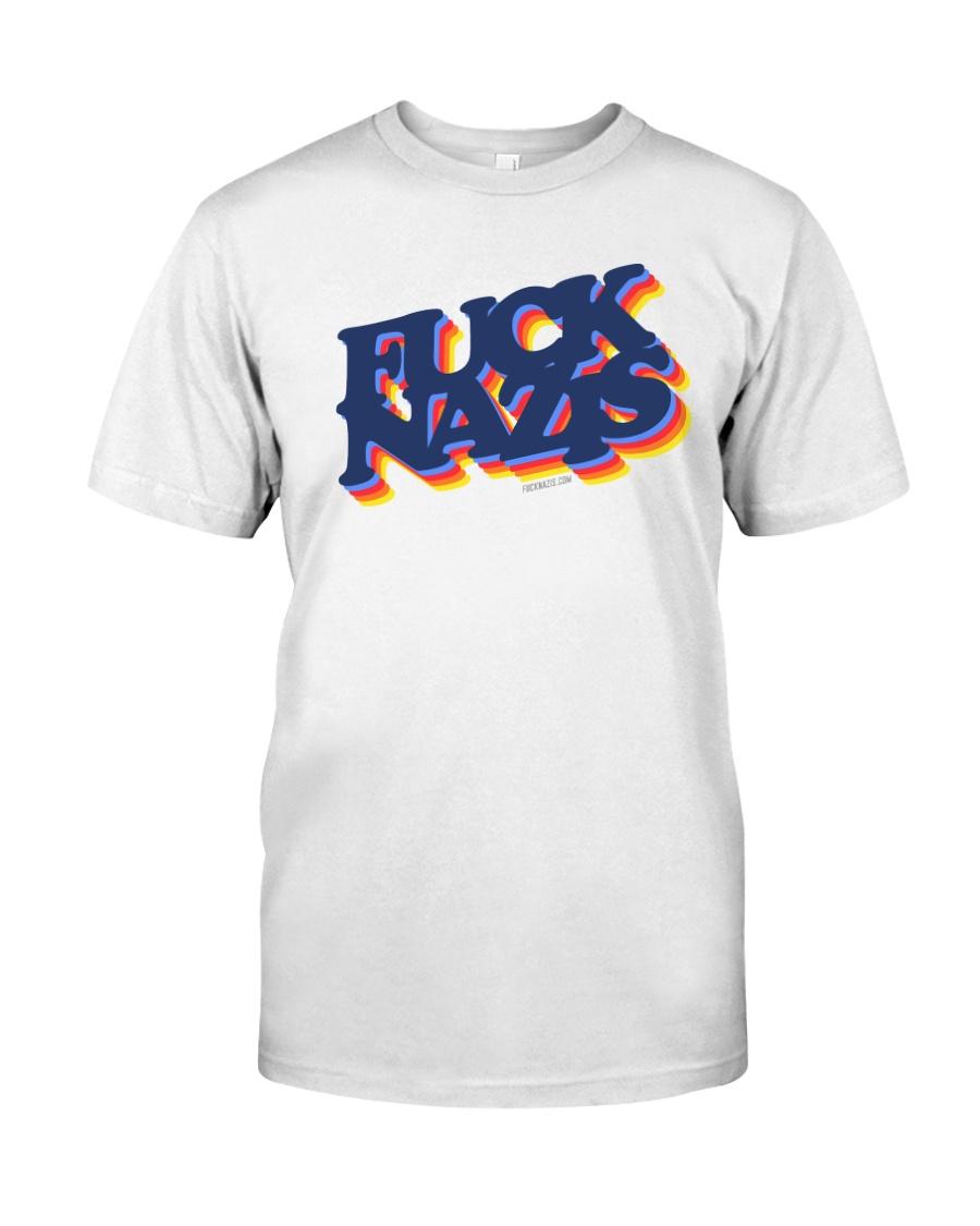 FUCK NAZIS Retro 2 Classic T-Shirt