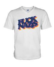 FUCK NAZIS Retro 2 V-Neck T-Shirt thumbnail