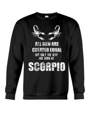 The Best are Born Scorpio Black  Crewneck Sweatshirt thumbnail