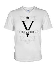 King Virgo black Design  V-Neck T-Shirt thumbnail