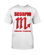 Scorpio red  Classic T-Shirt front