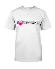 I heart libra women Classic T-Shirt front