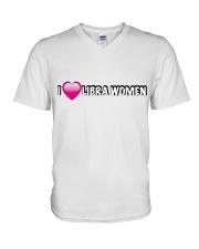 I heart libra women V-Neck T-Shirt thumbnail