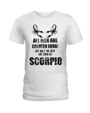 The Best are born Scorpio  Ladies T-Shirt thumbnail