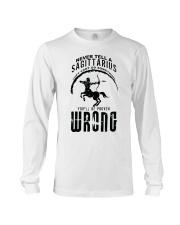 Never tell a Sagittarius Long Sleeve Tee thumbnail