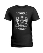 Never play games with a scorpio black  Ladies T-Shirt thumbnail