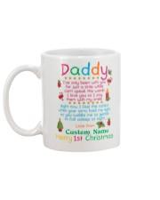 Merry First Christmas Daddy Mug back