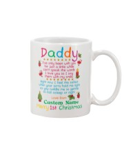 Merry First Christmas Daddy Mug front