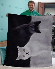 "Cat Sherpa Fleece Blanket - 50"" x 60"" aos-sherpa-fleece-blanket-50x60-lifestyle-front-05"