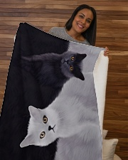 "Cat Sherpa Fleece Blanket - 50"" x 60"" aos-sherpa-fleece-blanket-50x60-lifestyle-front-09b"