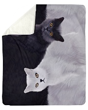 "Cat Sherpa Fleece Blanket - 50"" x 60"" front"