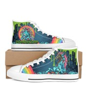 Zombie Unicorn Women's High Top White Shoes outside-right-inside-right