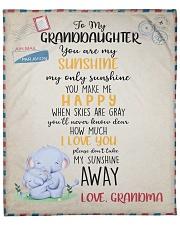 "To Granddaughter From Grandma  Fleece Blanket - 50"" x 60"" front"