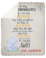 "To Granddaughter From Grandma  Sherpa Fleece Blanket - 50"" x 60"" thumbnail"