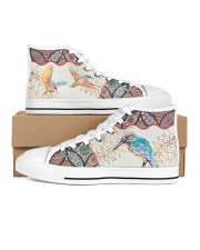 Hummingbird  Men's High Top White Shoes inside-right-outside-right