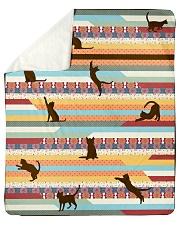 "Cat Sherpa Fleece Blanket - 50"" x 60"" front"