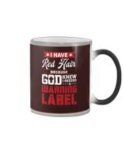 I Have Red Hair  Color Changing Mug tile