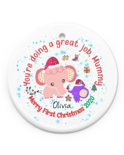 You are doing a great Job Mummy  Circle Ornament (Porcelain) tile