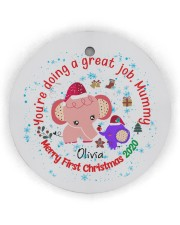 You are doing a great Job Mummy  Circle Ornament (Wood tile