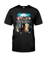 Halloween Characters reflection  Premium Fit Mens Tee tile