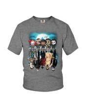 Halloween Characters reflection  Youth T-Shirt tile