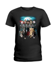 Halloween Characters reflection  Ladies T-Shirt tile