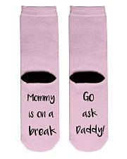 Mommy Is On A Break Crew Length Socks back
