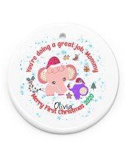 You are doing a great Job Mommy  Circle Ornament (Porcelain) tile