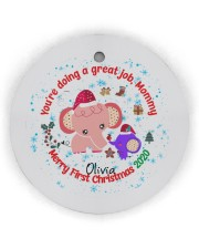 You are doing a great Job Mommy  Circle Ornament (Wood tile