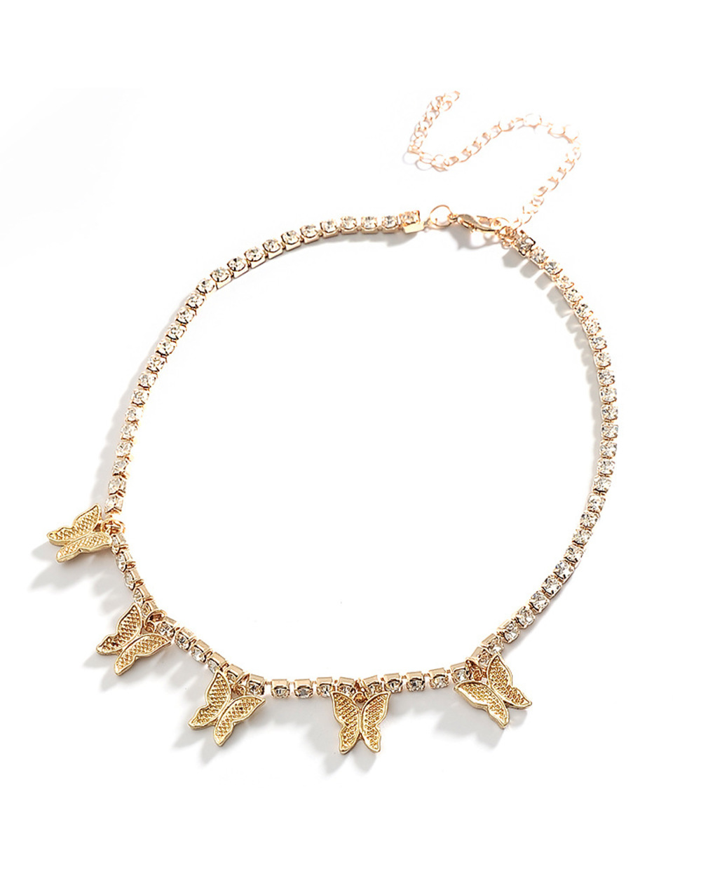 Exclusive  Butterfly Pendant Necklace - Gold 1