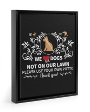 No Pee No Poop We Dogs 11x14 Black Floating Framed Canvas Prints thumbnail