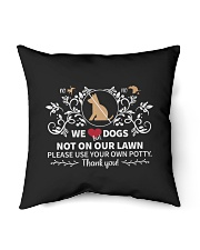 "No Pee No Poop We Dogs Indoor Pillow - 16"" x 16"" thumbnail"