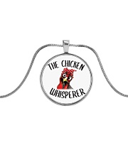 Chicken Whisperer Metallic Circle Necklace front