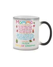 Merry First Christmas Daddy Color Changing Mug tile