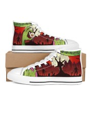 Zombie Men's High Top White Shoes inside-right-outside-right
