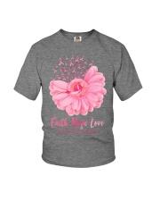 Faith Hope Love Breast Cancer Awareness Youth T-Shirt tile