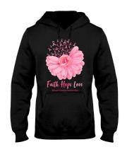 Faith Hope Love Breast Cancer Awareness Hooded Sweatshirt tile