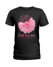 Faith Hope Love Breast Cancer Awareness Ladies T-Shirt tile