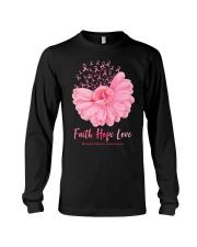 Faith Hope Love Breast Cancer Awareness Long Sleeve Tee tile