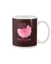 Faith Hope Love Breast Cancer Awareness Mug tile