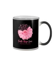 Faith Hope Love Breast Cancer Awareness Color Changing Mug tile