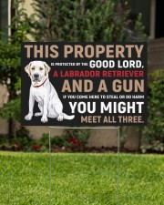 This Property Is Protected - Labrador Retriever  18x12 Yard Sign aos-yard-sign-18x12-lifestyle-front-01