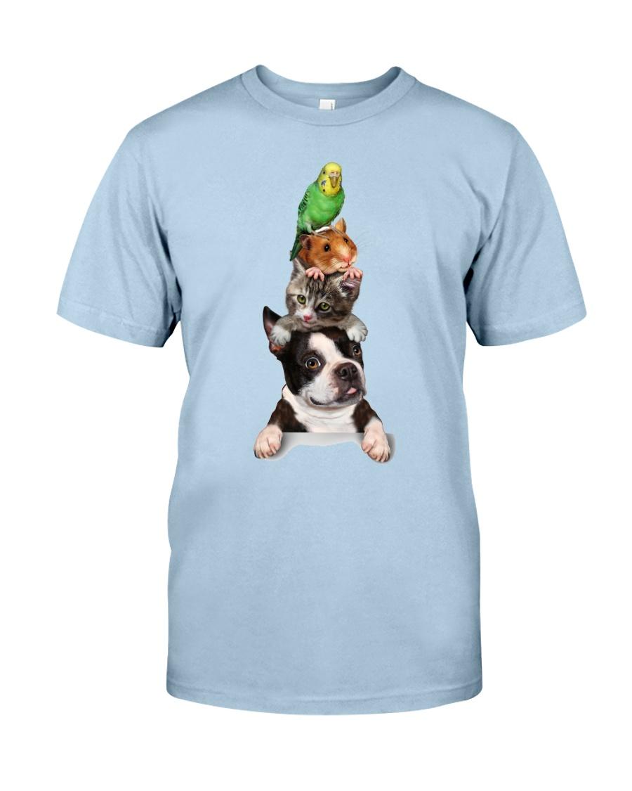Dog-cat-mouse-bird Classic T-Shirt