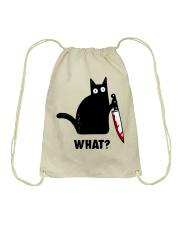 cat what Drawstring Bag thumbnail