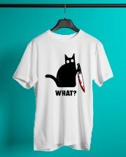 cat what Classic T-Shirt lifestyle-mens-crewneck-front-3