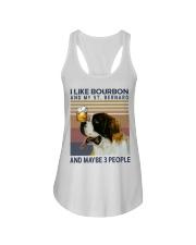 Bourbon and Saint Bernard Ladies Flowy Tank thumbnail