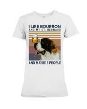 Bourbon and Saint Bernard Premium Fit Ladies Tee thumbnail