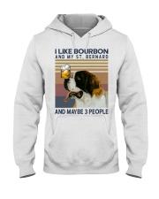 Bourbon and Saint Bernard Hooded Sweatshirt thumbnail