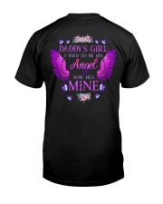 Daddy's Girl Angel Black Classic T-Shirt back